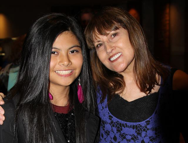 Roxanne with her student Marlisa, winner of  X-Factor 2014