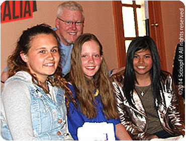 Marlisa, with fellow songwriting students at the Songsalive! Australia Workshop In The Mountains 2013