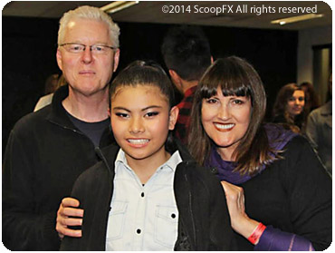 Stephen Kiely, Marlisa Punzalan and Roxanne Kiely at X-Factor 2014